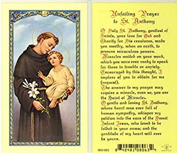 Prayer to saint anthony for help