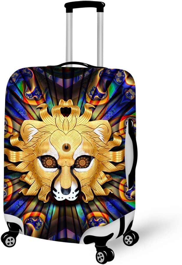Wildlife Lion King 18-21 inch Travel Luggage Cover Spandex Suitcase Protector Washable Baggage Covers