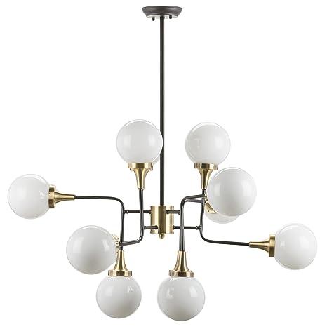 Amazon.com: Bella – Lámpara de techo en vidrio blanco por ...