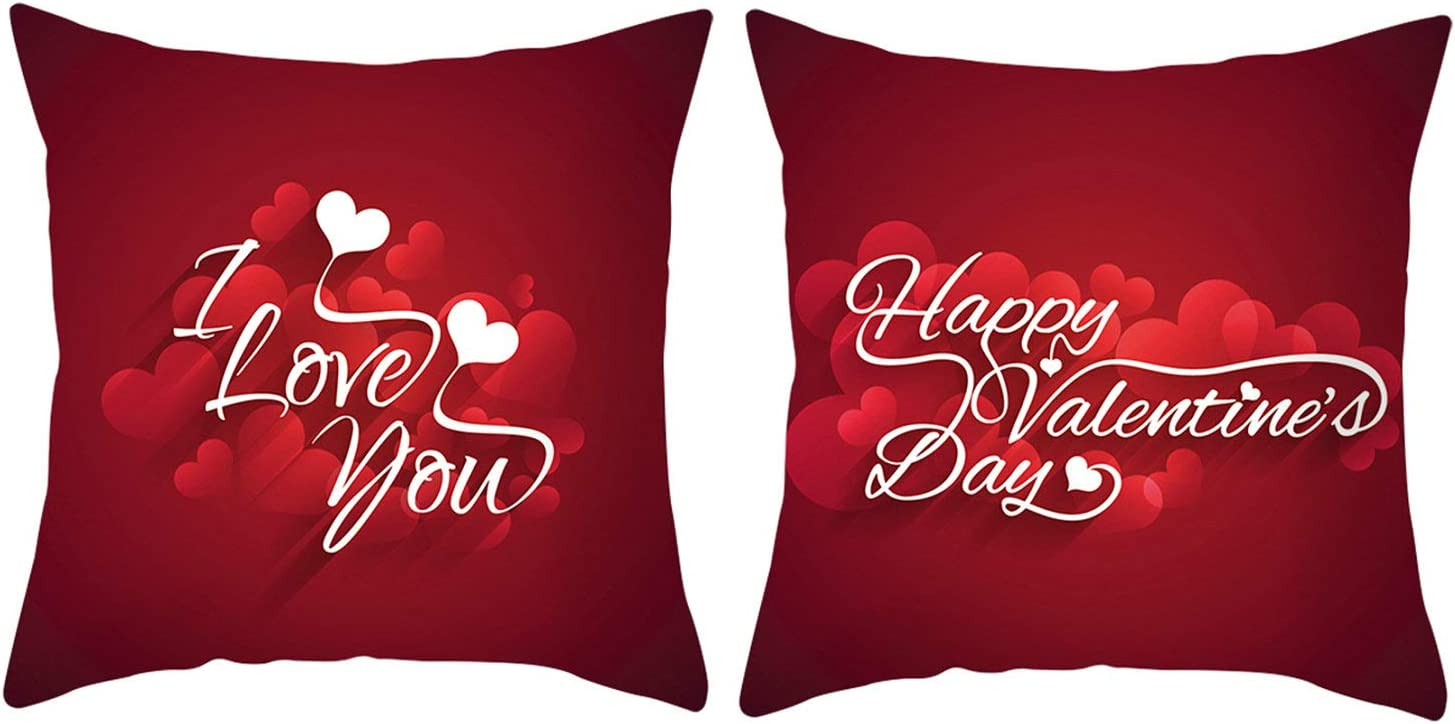 C013 Cushion cover Valentine/'s day best gift Set of Two striped cushion covers 18x18 inches size pillow cover High quality fabric