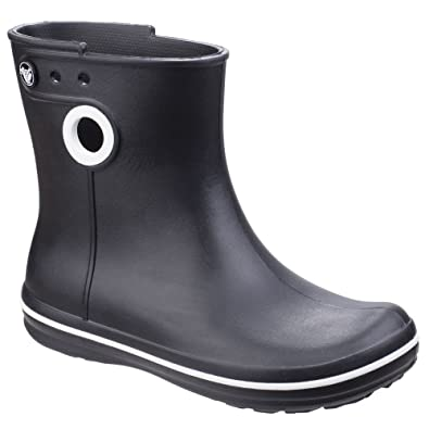 ef7106437c5fdc Amazon   [Crocs] クロックス レディース Jaunt ショート丈 ブーツ 長靴 婦人靴 レインブーツ 女性用   レインシューズ