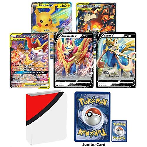 affordable Totem World 5 Oversized Jumbo Pokemon Cards with Totem Inspired Jumbo Poke Ball Binder Collectors Album