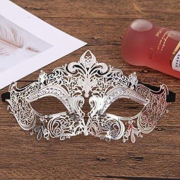 NSMJ Máscara de Venecia del cordón del Diamante de la máscara de Oro de la máscara