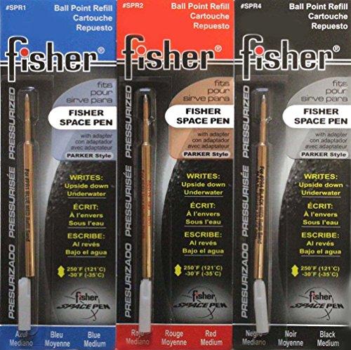 Tri Color Black Refills Bullet Fisher