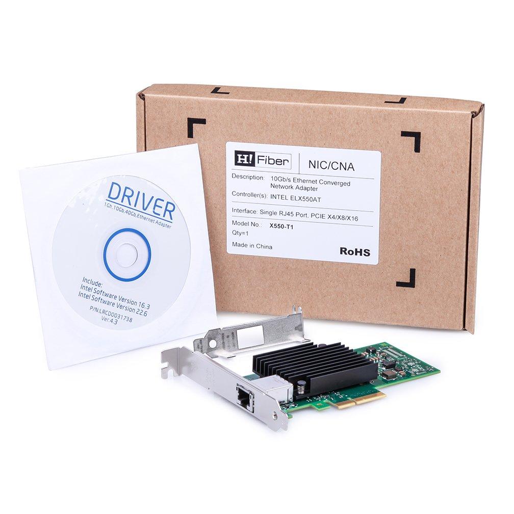 10Gb Ethernet Network Adapter Card- for Broadcom BCM57810S Controller Network Interface Card PCI Express X8 NIC Dual SFP+ Port Fiber Server Adapter