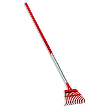 Corona RK 62060 Fixed Tine Shrub Rake, Aluminum Handle, 8-Inch Wide