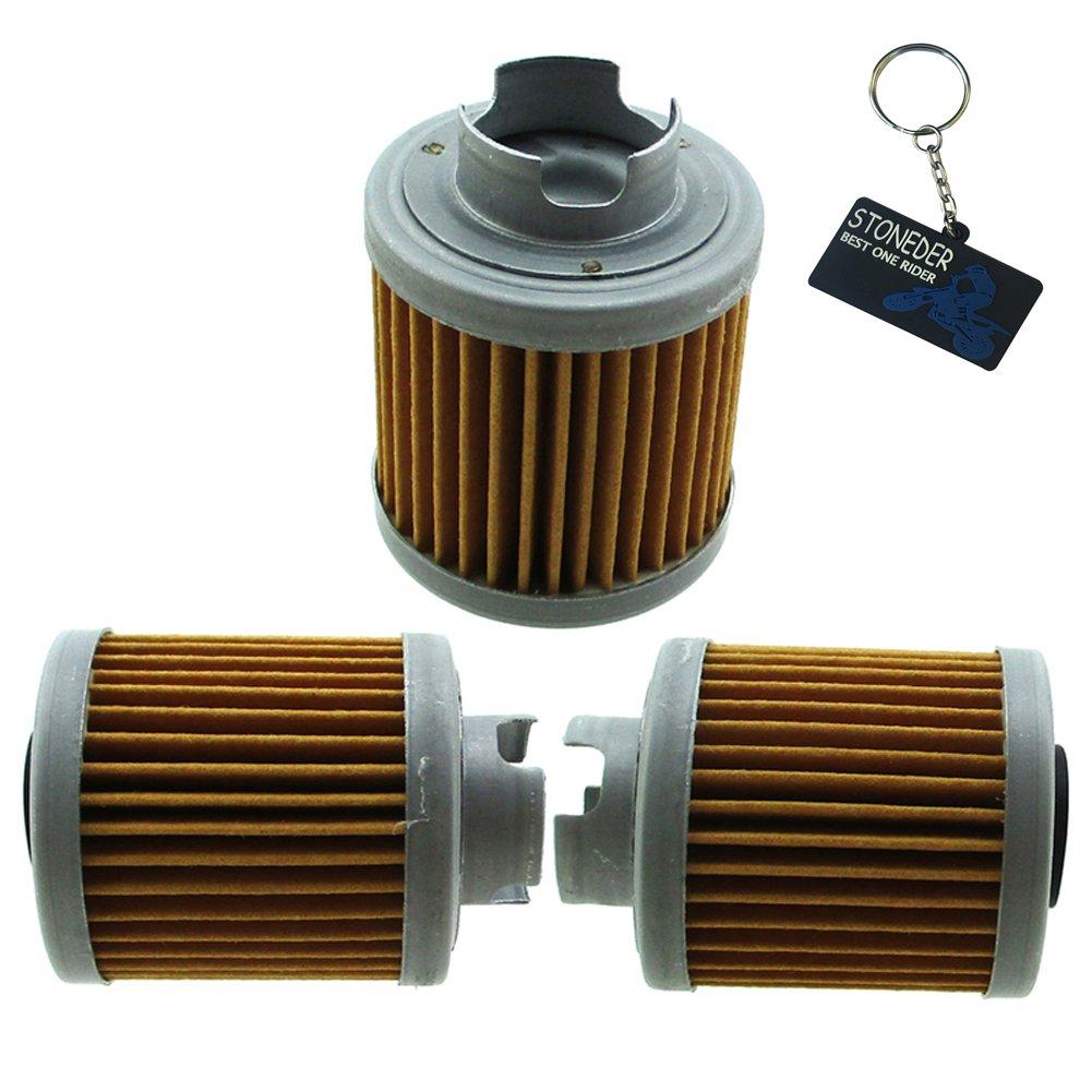 Stoneder 3pcs filtro olio per Honda 15412-hb6 –  003 1986 –  1987 ATC125 M/1987 –  1988 TRX125 Fourtrax/2004 CB50R Dream 50R Pit Bike mini GP Minicross Minimotard Tak