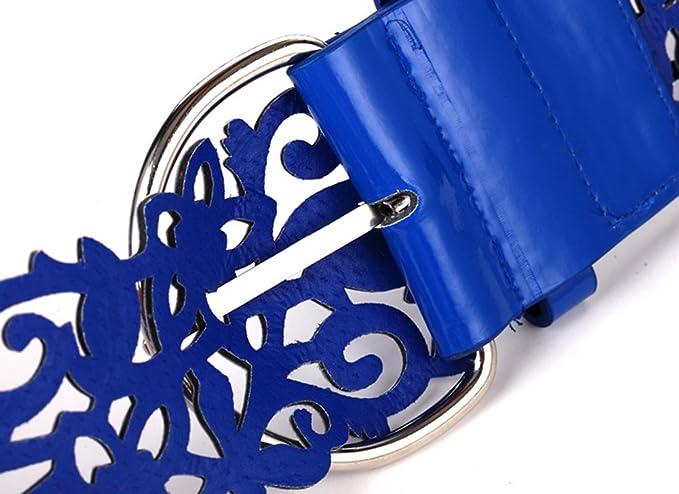 Westeng Cintura da Donna a vita Larga Cintura Moda a vita Bassa Cinturino con Fibbia Piatta