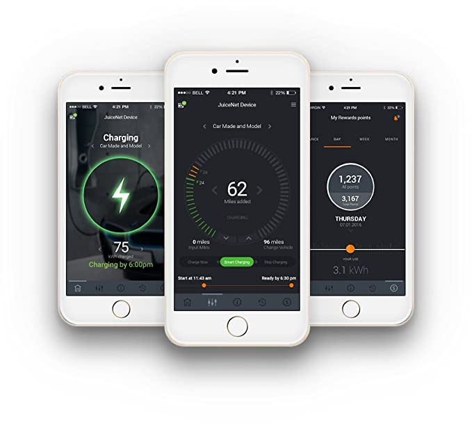 AeroVironment EVSE-RS JuiceNet ® Edition WiFi Enabled EV Charging Hardwire Station app image