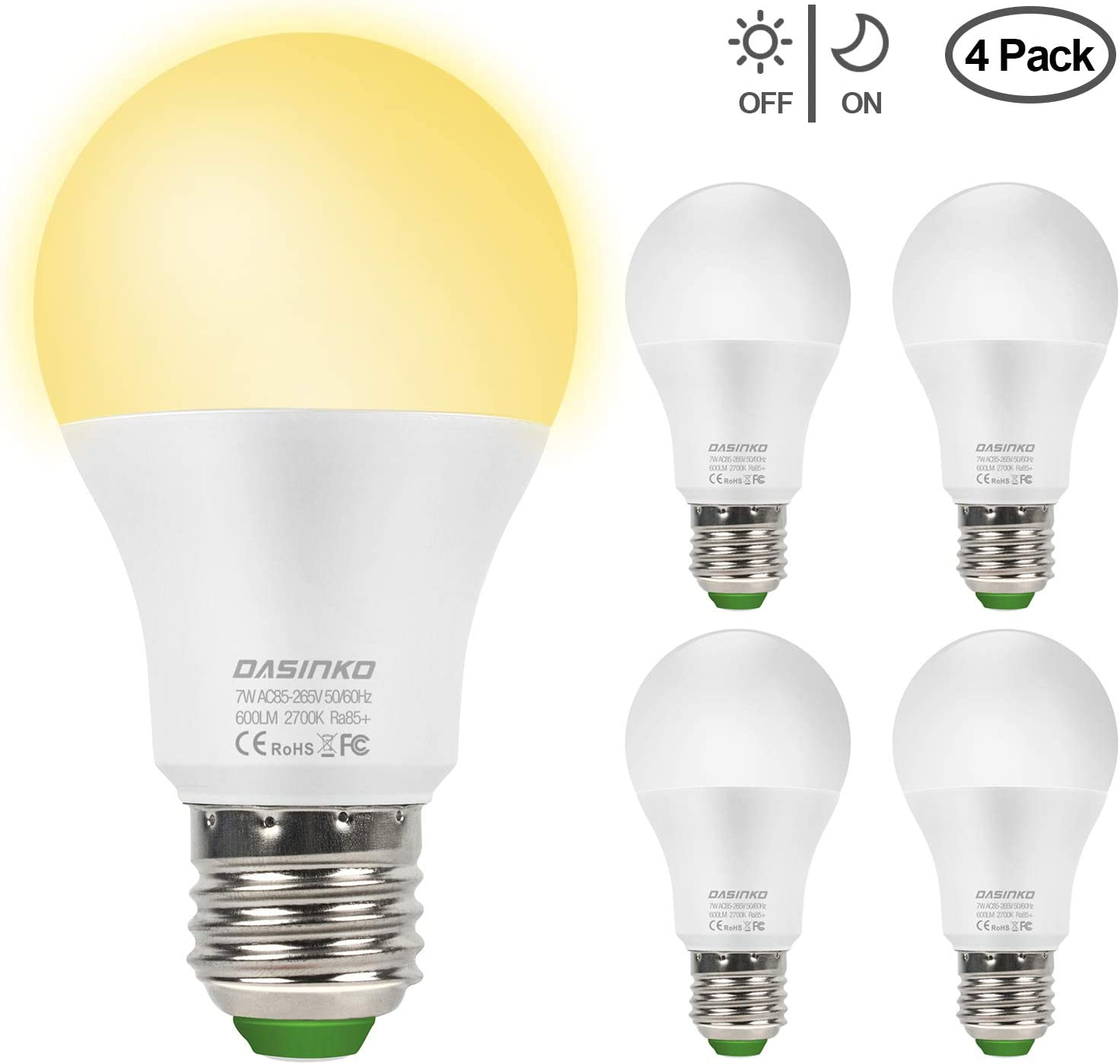 LED Glühbirne mit Lichtsensor - Energiesparlampen
