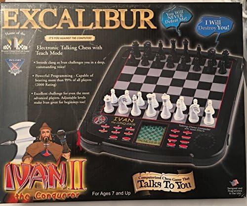 Ivan Magnetic Chess Set Pieces Excalibur Electronics King Arthur Chess station