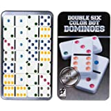 Dominos Set, AOQING Double 6 Color Dot Dominoes,Set of 28 Dominos Game