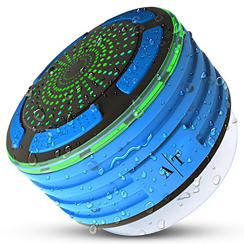 Price comparison product image Bluetooth Speakers,  Auto Tech IPX7 Portable Wireless Waterproof Bluetooth Speaker with FM Radio and LED Mood lights,  Super Bass and HD Sound for Shower,  Pool,  Beach,  Kitchen&Outdoor