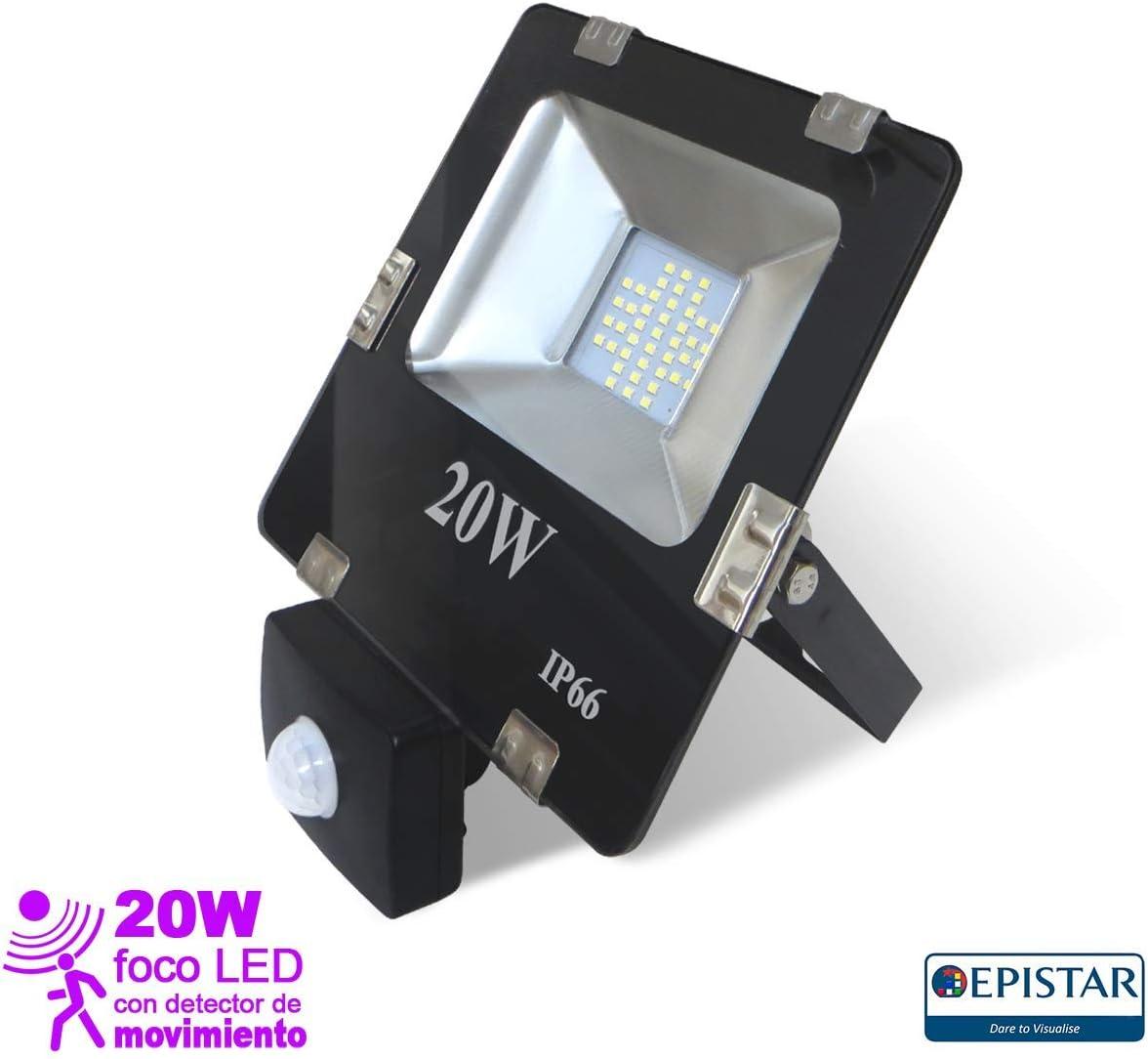 EEKLUX Foco Proyector LED 20W con Sensor de Movimiento, 20 W ...