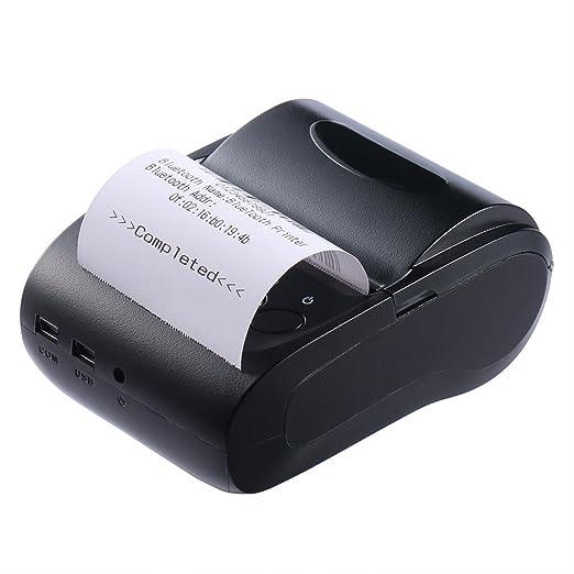 LESHP Impresora Térmica de Recibo Billetes Tickets Con Blutooth Inalámbrico Impresora Térmica de Tickets y Recibos (57mm, >90mm/s, Compatible con ...
