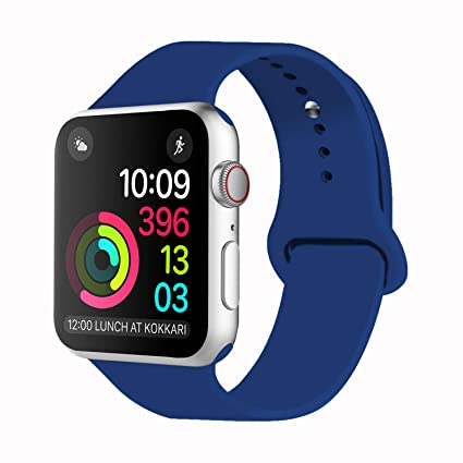 iDon Smart Watch Sport Band, Soft Silicone Replacement Sports Band compatible for Apple Watch Band 38mm 2017 Series 3 Series 2 Series 1 All ...