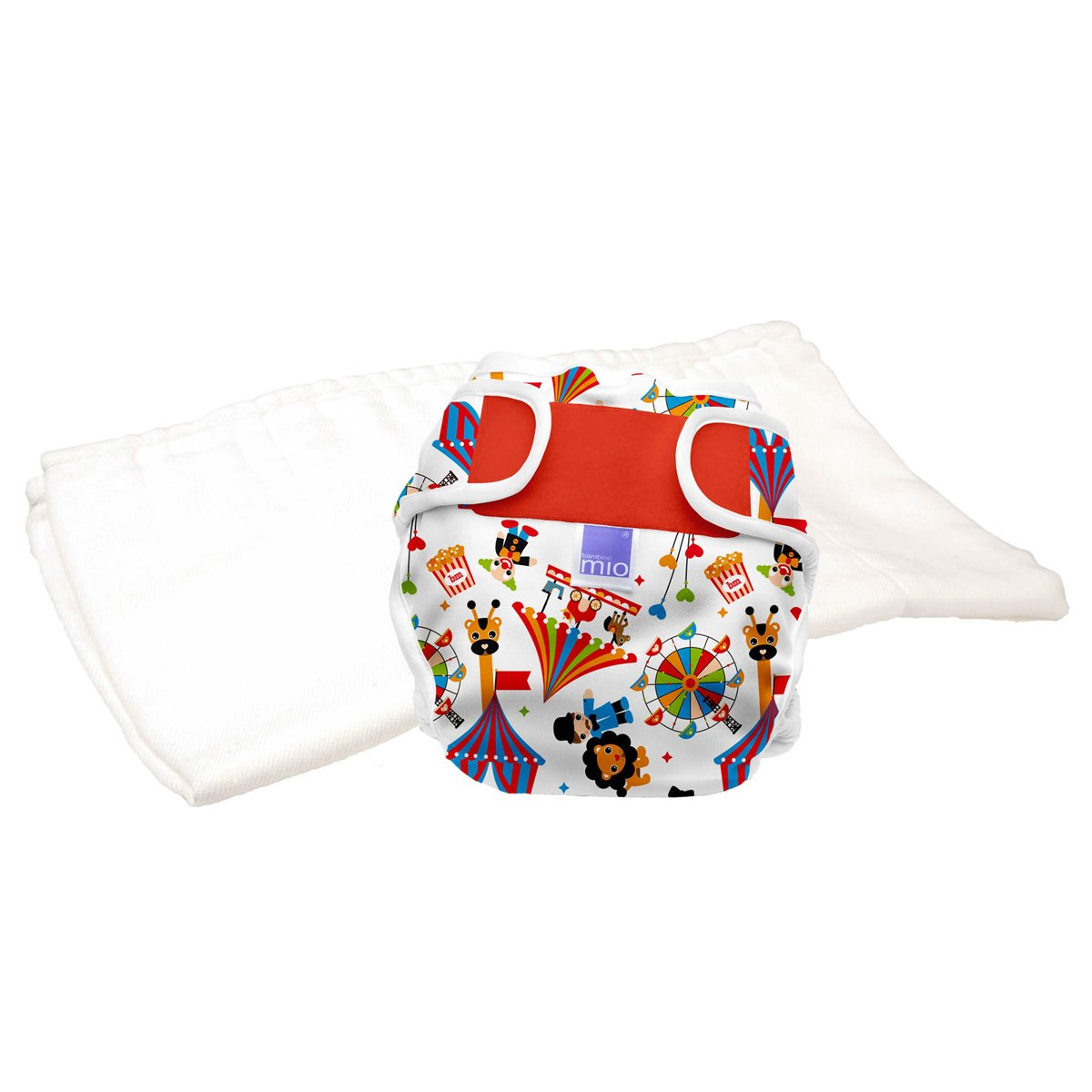 Bambino Mio Miosoft Reusable Nappy Trial Pack - Circus Time, Size 1 ( Size 1 (<9kg) TPMS1 CT