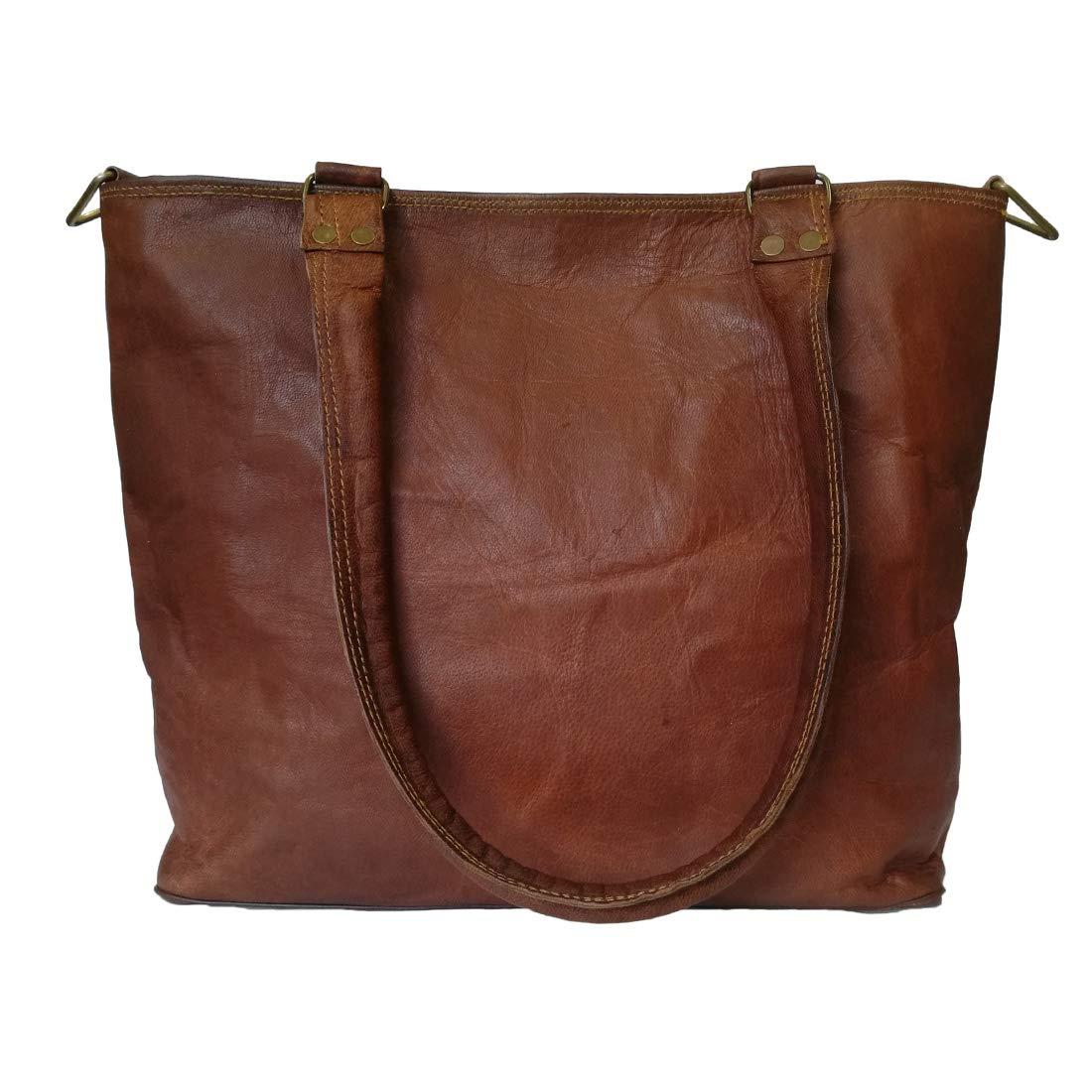 Mad Over Shopping Sac /à main d/épaule moyen en cuir v/éritable pour femme Sac /à main vintage Crossbody