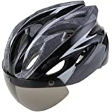 Easecamp Cycling Bike Helmet with Detachable Magnetic Visor Mirrors Shield