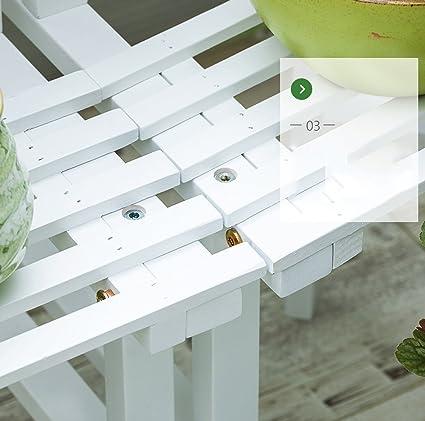 JLN-Photo Wall ZGBs Spring- Soporte de Flores de Esquina de Madera Maciza Suculentas Escalera de Varias Capas Balcón de rábano Verde de pie Balcón de Madera Estantes de Plantas: Amazon.es: Hogar