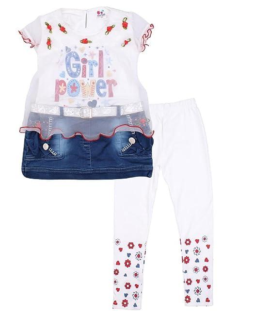 15c6182b4 Miss U Kids Girls High Quality Designer party wear Dresses Girls dress  Printed legging And Applique
