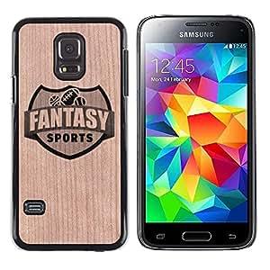 - Fantasy Football Sports Emblem - - Funda Delgada Cubierta Case Cover de Madera FOR Samsung Galaxy S5 Mini G870a BullDog Case