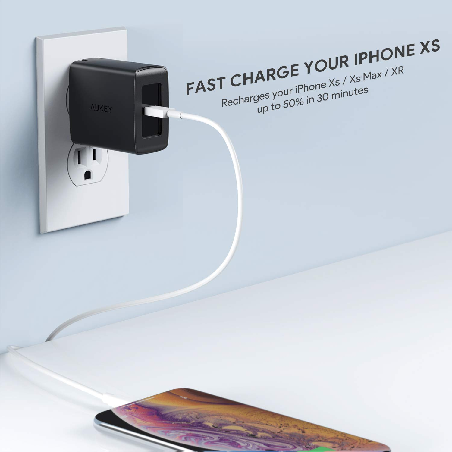 AUKEY USB C Charger with Power Delivery 3.0 18W PD USB Wall Charger, Compatible with iPhone 11/11 Pro/Max/XR, Google Pixel 2/2 XL, Samsung Galaxy S8 / ...