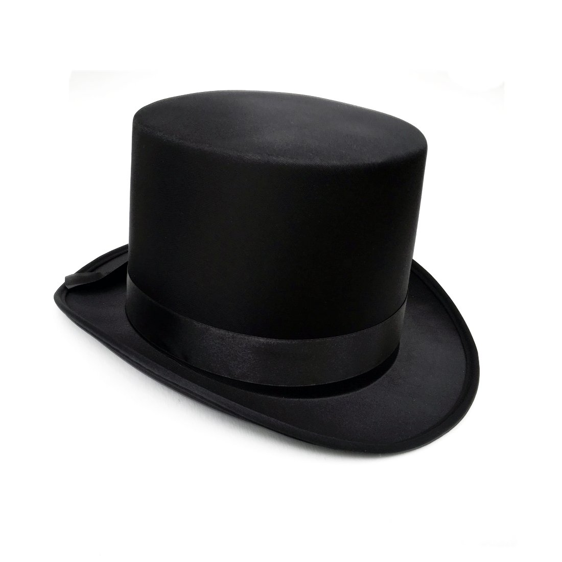 JJMS Brand Fantastic Black Top Hat Great Quality Hard Satin top Hat H7720-B