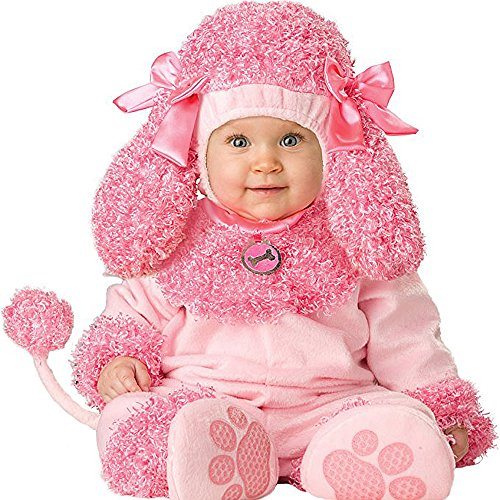 Toddler Baby Infant Cutie Poodle Pink Dog Animal Christmas Outfit -