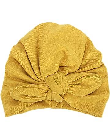Mitlfuny Sombreros de bebé Unisex Orejas de Conejo Turbante Nudos Diadema  Gorro de Algodón Invierno Otoño d3c71a50323