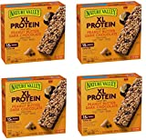 Nature Valley Chewy Granola Bar, XL Protein, Gluten Free, Peanut Butter Dark Chocolate, 7 Bars, 2.12 oz, 42 Bars (4 Boxes)