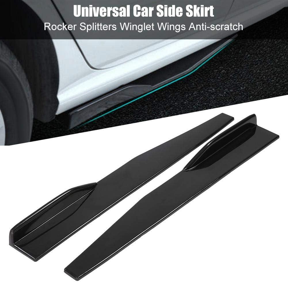 Long par de faldones laterales de ABS Cubierta de ajuste Separadores de balancines Alas de ala antiara/ñazos EBTOOLS Faldones laterales universales para coche
