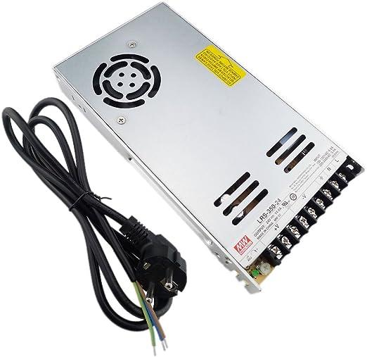 LTRGBW 350W 14.6A 24V AC//DC Interruttore di alimentazione del convertitore EU Cavo di alimentazione per la luce di striscia del LED