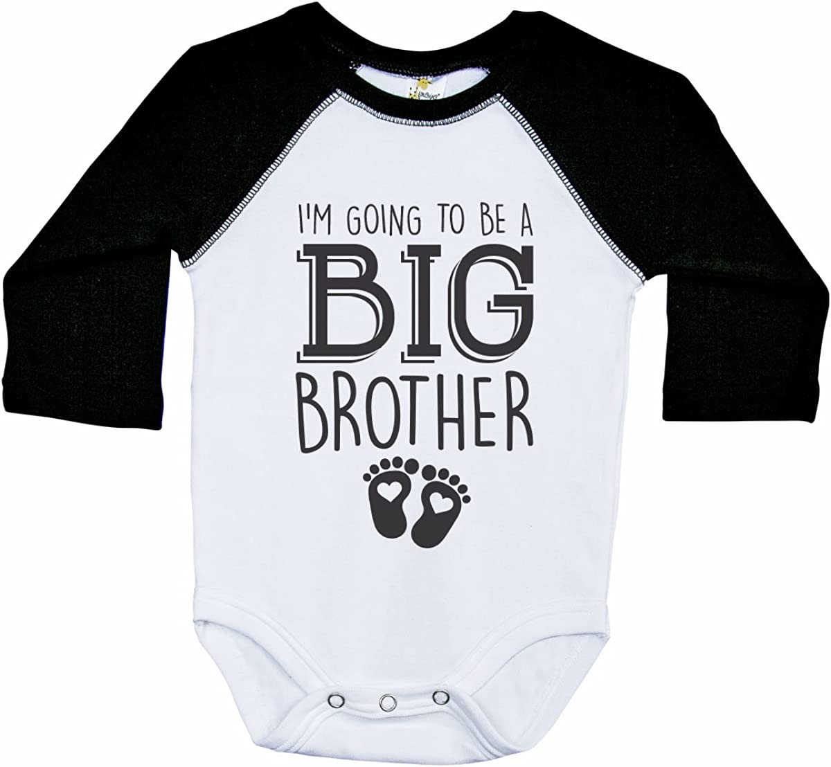 Big Brother Long Sleeve Raglan Onesie//Im Going to BE A Big Brother//Boys