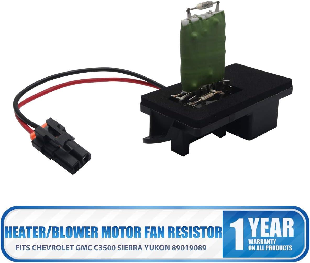 CHEVROLET GMC SIERRA SILVERADO Heater//Blower Motor Fan Resistor 89019089