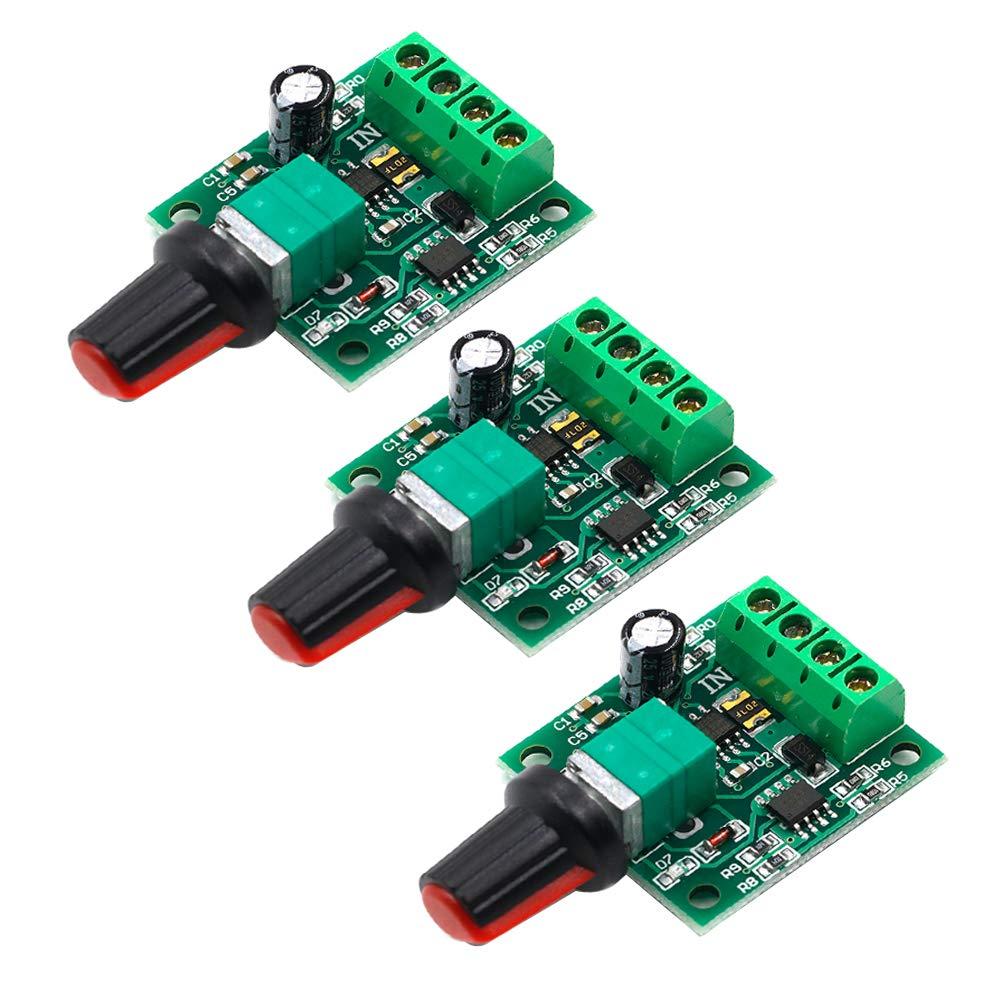 FICBOX 3 PACK 1.8v 3v 5v 6v 7.2v 12v 2A 30W DC Motor Speed Controller 1803BK 1803B Adjustable Driver Switch PWM