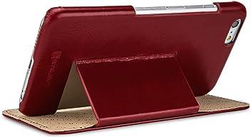 StilGut Book Type, housse en cuir avec fonction de support pour iPhone 6 Plus 5.5 pouces, bordeaux