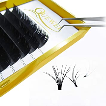 55a5b271053 Thickness 0.07mm Russian Volume Premade Fans Eyelash Extensions C/D Curl 8 ~15mm