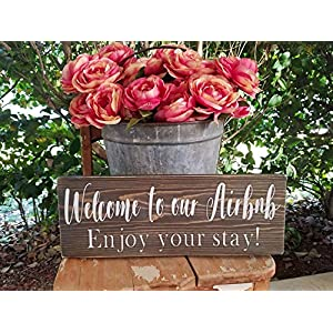 CELYCASY Airbnb Sign airbnb Welcome Sign Vacation Home Sign airbnb Decor airbnb Wood Sign Farmhouse airbnb Rental Rustic airbnb Decor airbnb Wooden