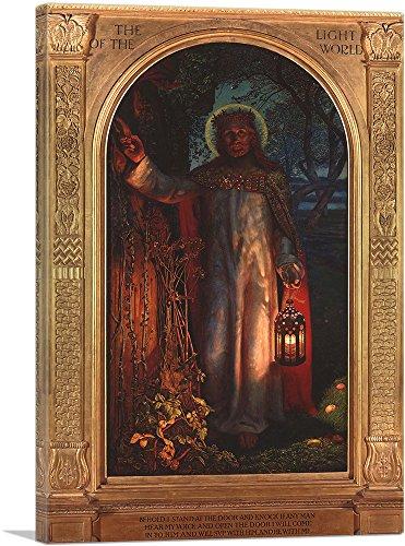 ARTCANVAS The Light of The World 1851 Canvas Art Print by William Holman Hunt- 18