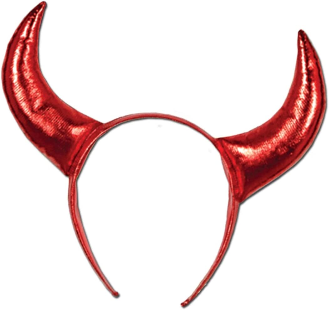 Beistle Devil Horns, One Size, Red