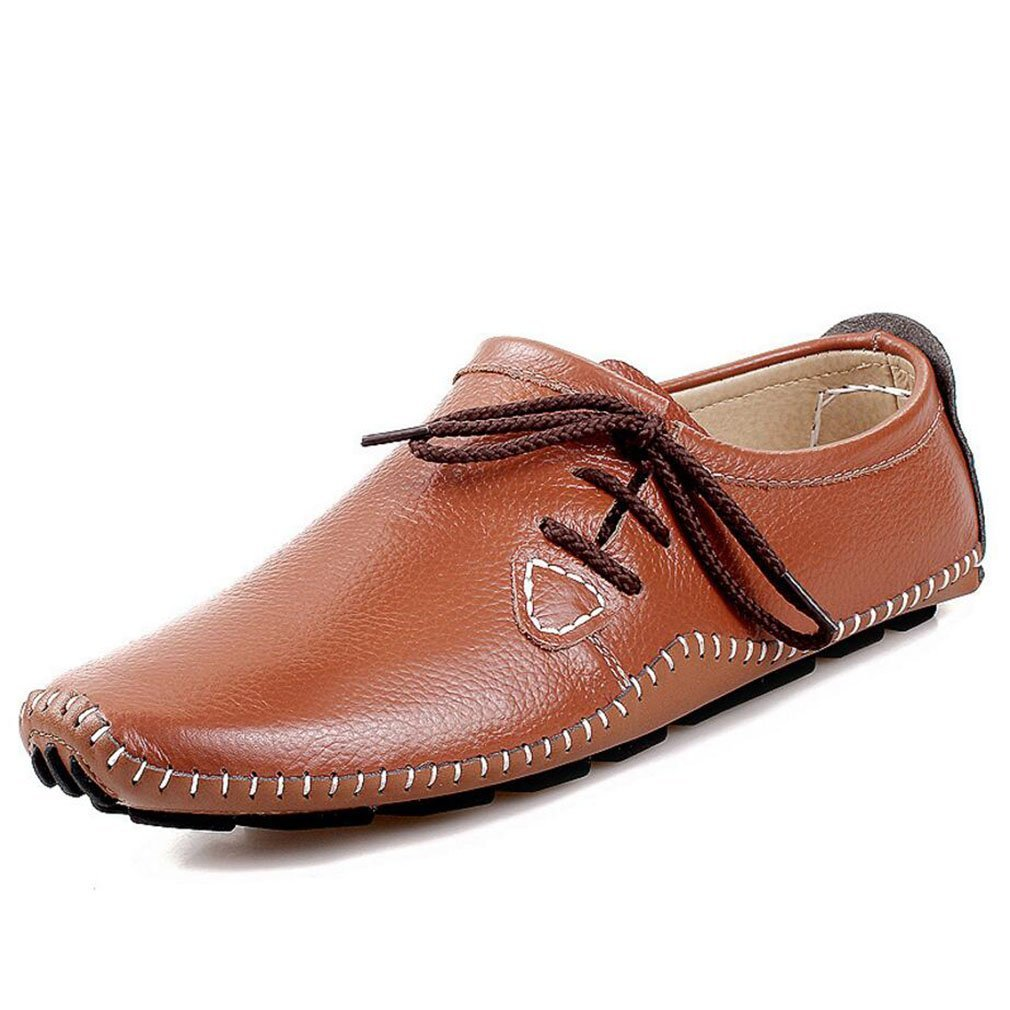 YAN Herrenschuhe Moccasins, Lässige Loafers Echte Leder Atmungsaktive Spring & Fall Fashion Slip Auf Fahr Schuhen, B,42