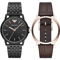 Emporio Armani 安普里奥·阿玛尼 男士指针式石英手表不锈钢表带 AR80021