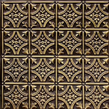 faux ceiling tiles 6x6 pattern 150 antique brass faux plastic 2x2 fire class u0026quot