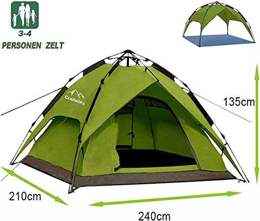 Campmore Wurfzelt 234 Personen, Sekundenzelt Campingzelt