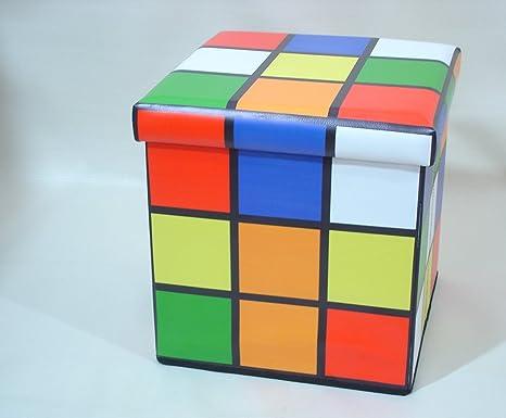 Poggiapiedi Ufficio Fai Da Te : Rubik s cube poggiapiedi sgabello pieghevole scatola a cubo