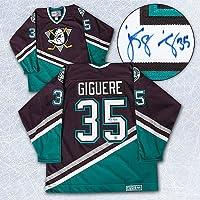 Jean-Sebastien Giguere Anaheim Mighty Ducks Autographed Retro CCM Hockey Jersey - Autographed Hockey Jerseys