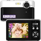 Digital Camera Vlogging Camera 24 Megapixels Mini Digital Camera 2.4 Inch Screen Camera with Digital Zoom Macro Compact Cameras for Adult, Kids, Beginners