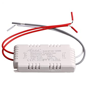 White Halogen Light Led Driver Power Supply Electronic Transformer 105w 220 240v To 12v Amazon Com Industrial Scientific