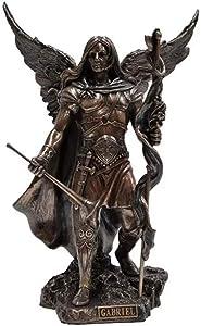 Studio Collection Archangel Saint Gabriel with Cross and Trumpet Statue Sculpture